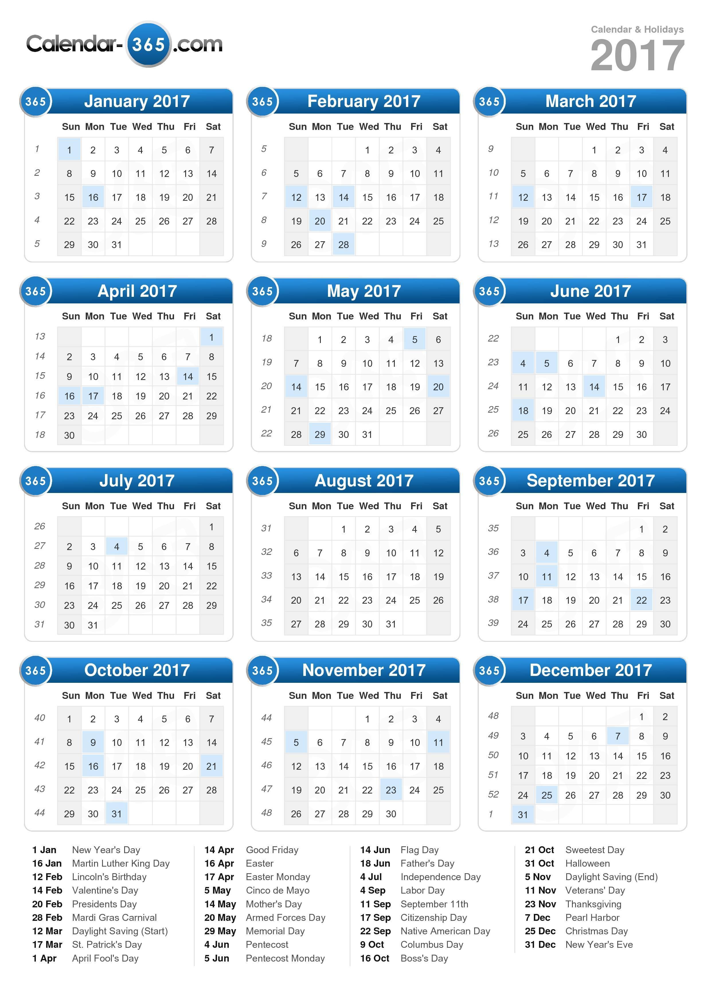 August 2017 Calendar Canada | weekly calendar template