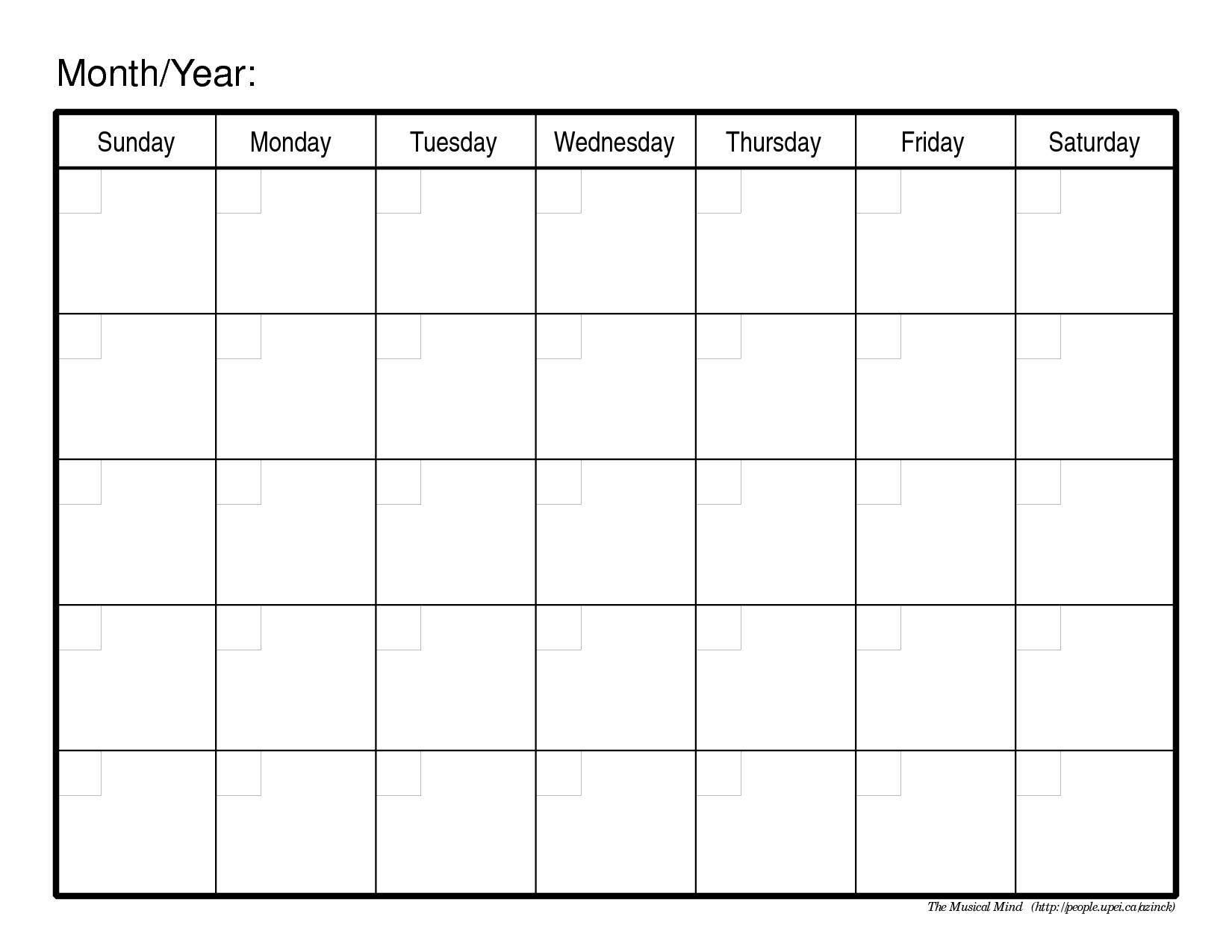 Calendar Template | printable calendar templates