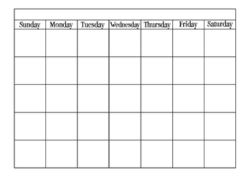 Calendar Template Blank & Printable Calendar in Word Format