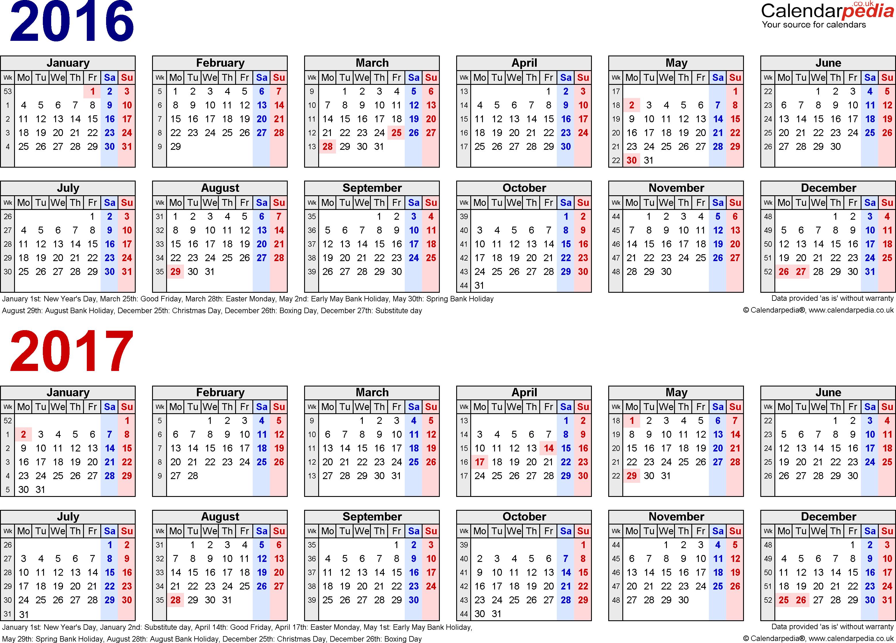 Chinese Lunar Calendar 2017 | weekly calendar template