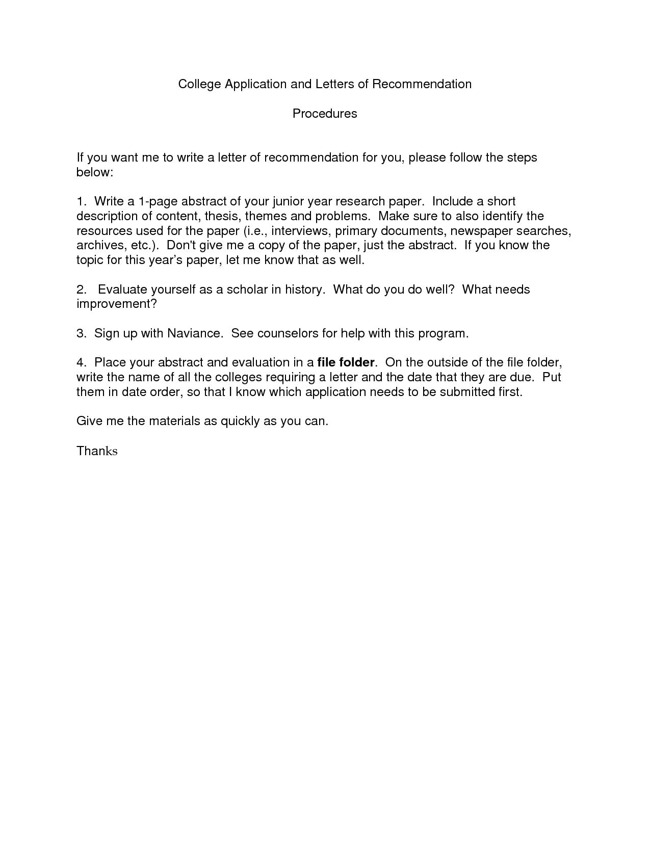 College Letter Of Recommendation Template Templates Free