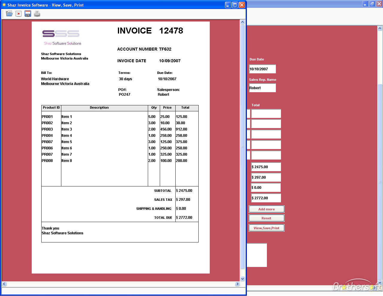 free invoicing software shaz invoice software 64915 1234160724