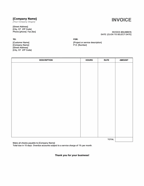Free Printable Blank Invoice Templates | printable invoice template