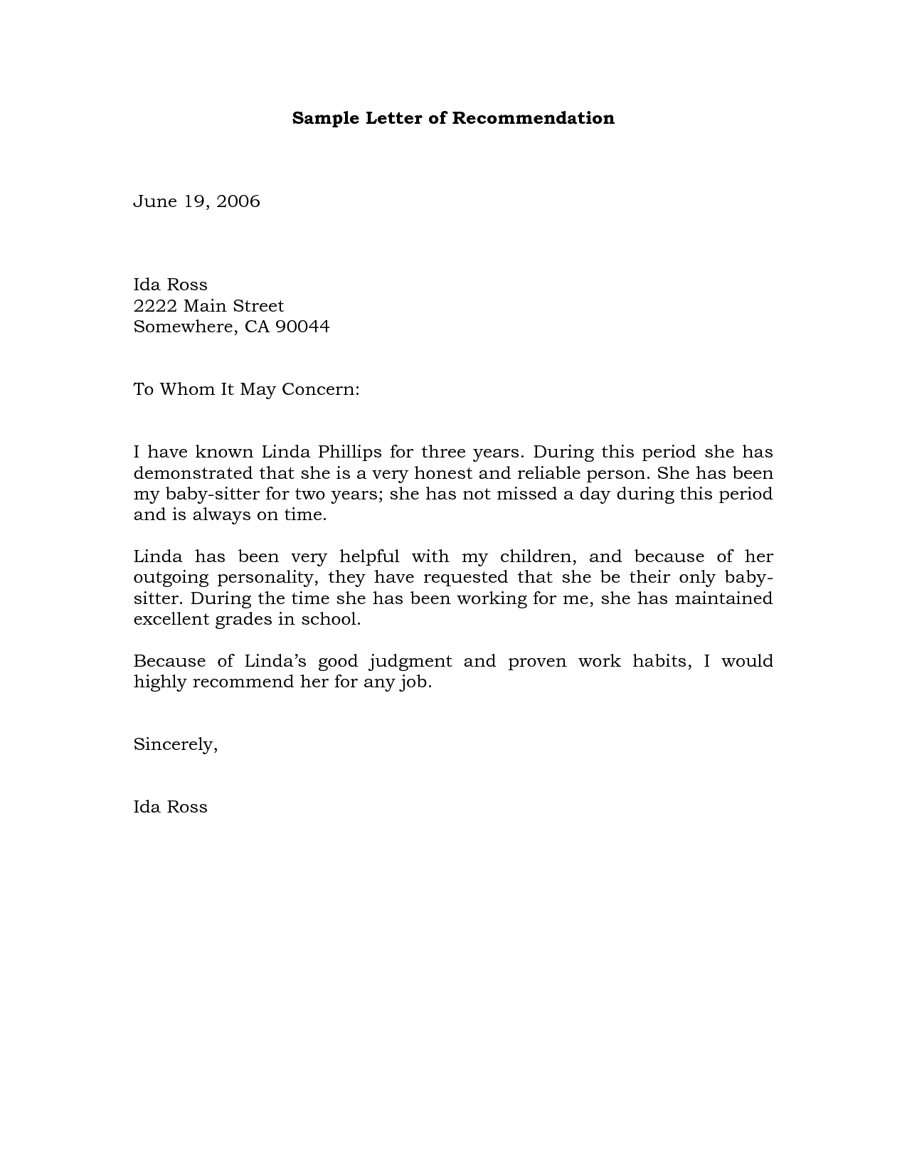 Free Sample Of Employee Reference Letter Cover Letter Templates