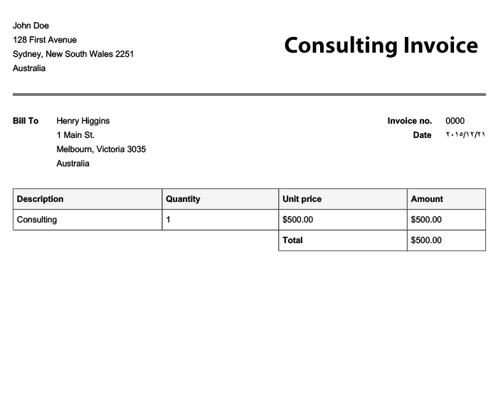 Free Invoice Templates | Online Invoices