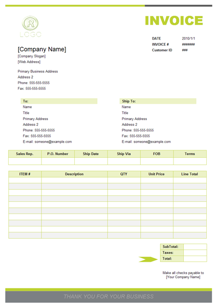 quotation template, Invoice template, sample invoice