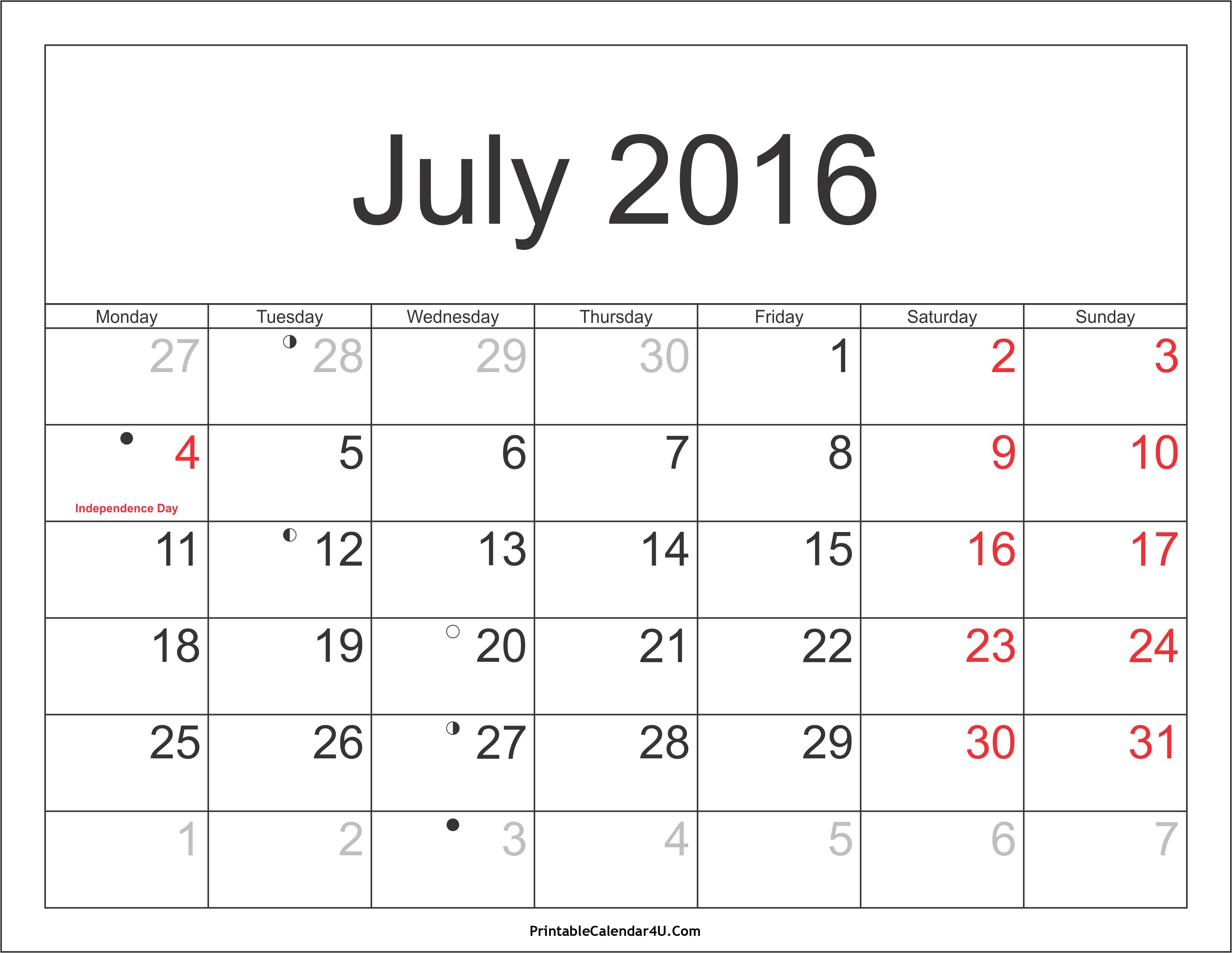 July 2017 Calendar With Holidays India | printable calendar templates