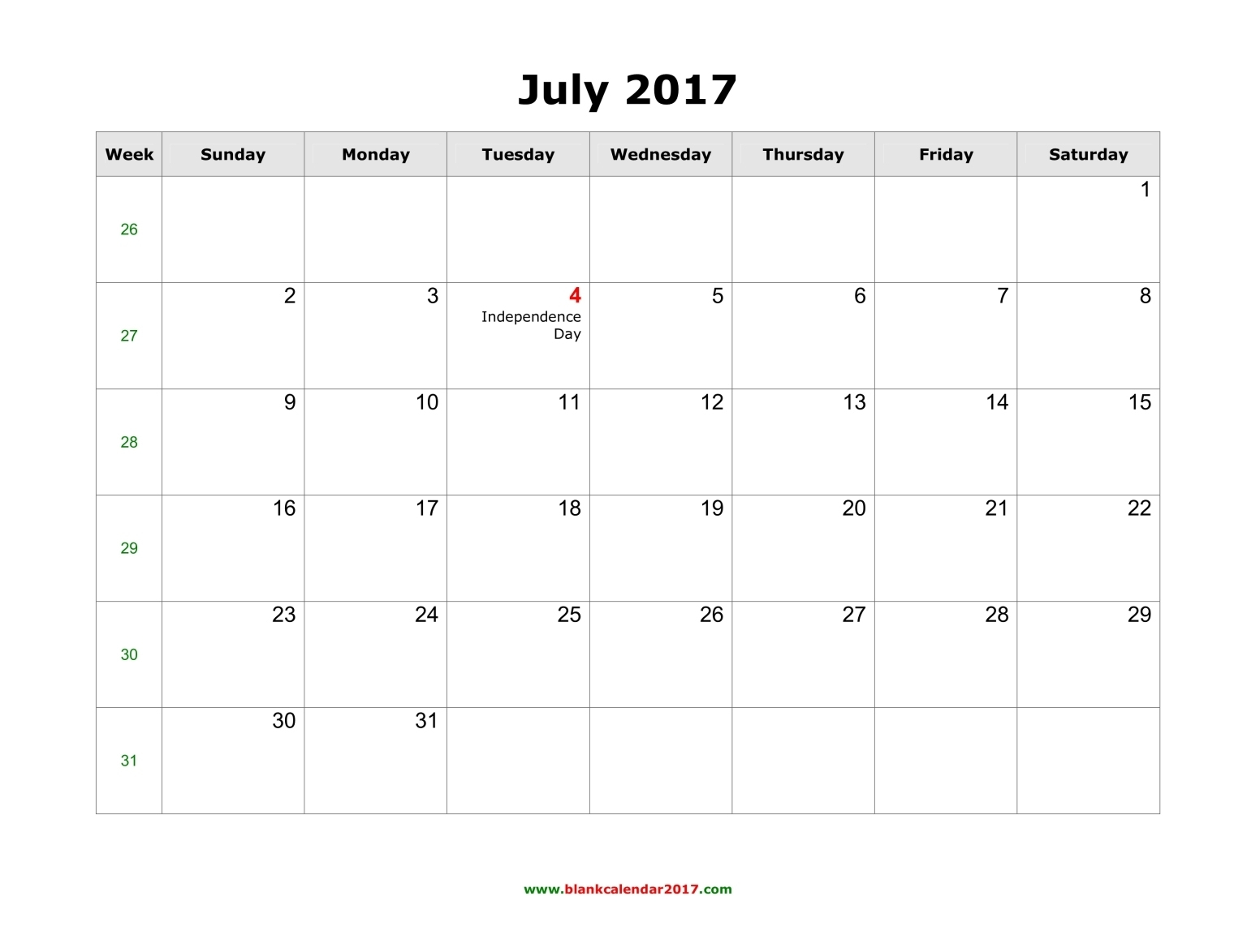 July 2017 Calendar With Holidays Uk | weekly calendar template