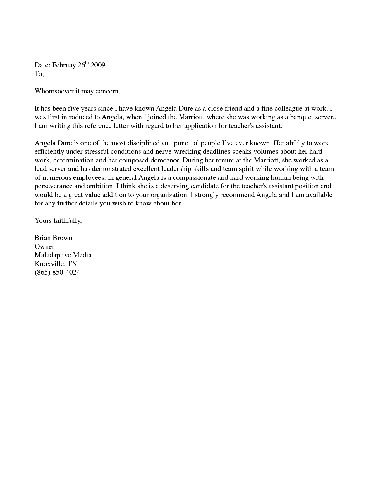 5+ Immigration Reference Letter Templates Free Sample, Example