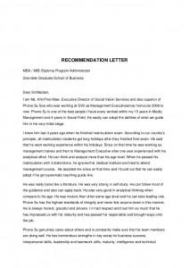 recommendation letter for leadership program Best Letter Example