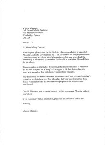 Letter Of Recommendation For Leadership Program Perfect Christmas