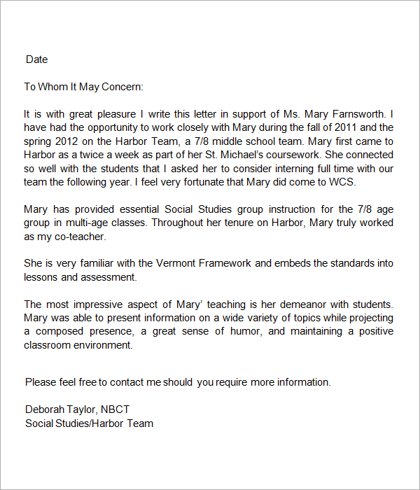 Letter of Recommendation from Special Education Teacher from Megan De…
