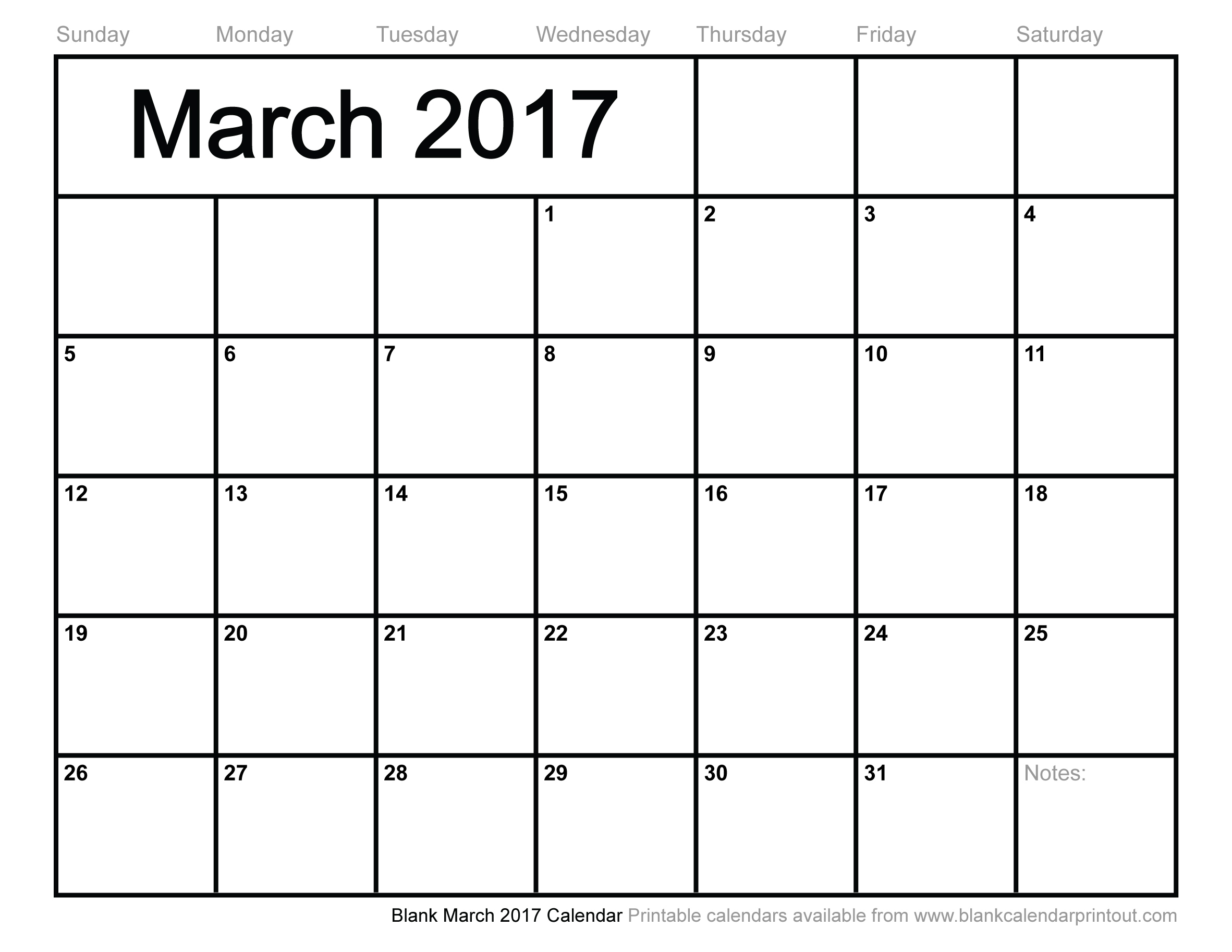 March 2017 Calendar Easter | monthly calendar printable