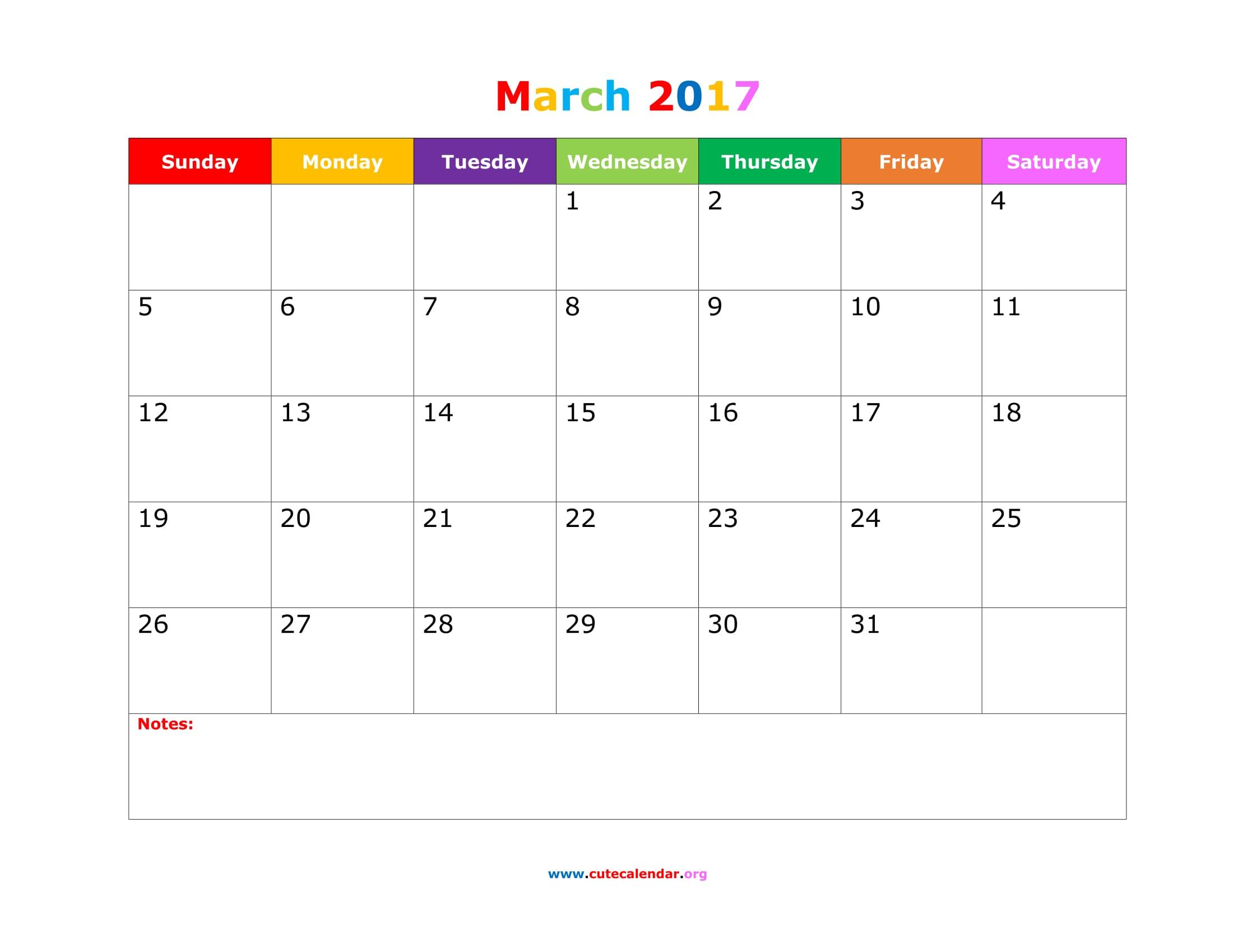 March 2017 Calendar Nz | free calendar 2017