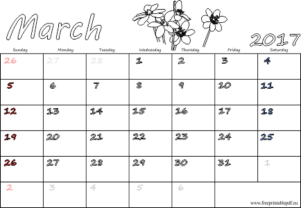 March 2017 Calendar With Holidays Canada – Free Monthly Calendar 2017