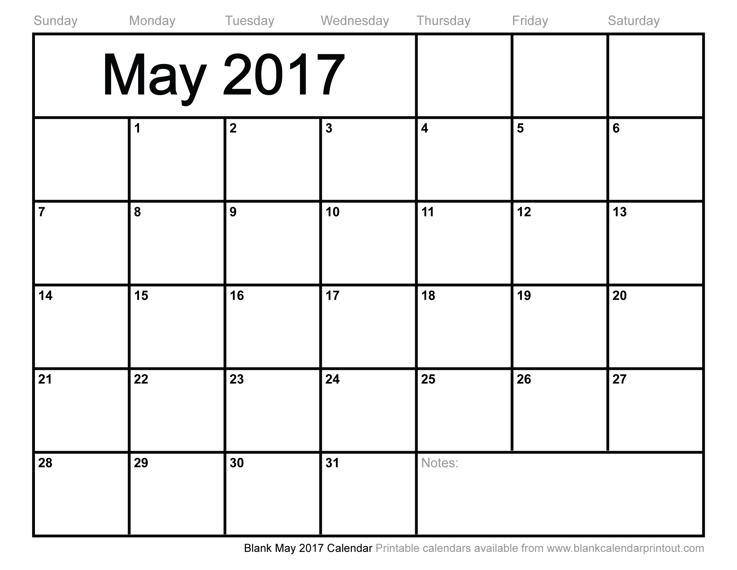 May 2017 Calendar Canada | 2017 calendar with holidays