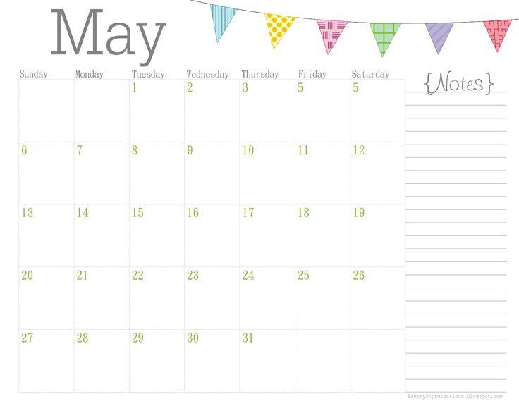 May 2017 Calendar Cute | weekly calendar template