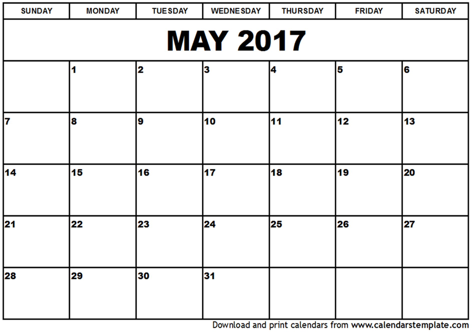 May 2017 Calendar Uk | 2017 calendar with holidays