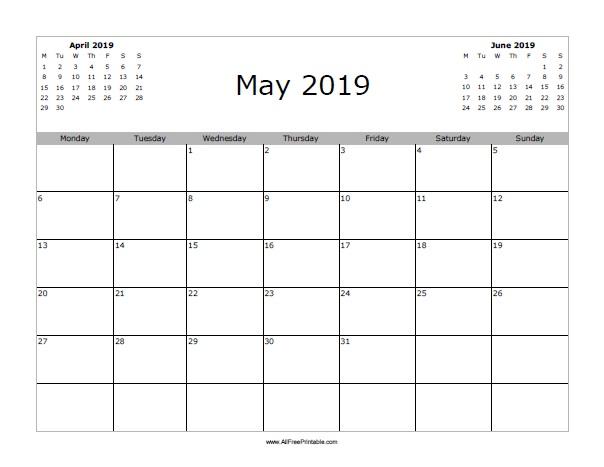 May 2019 Printable Calendar « Printable Hub