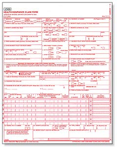 picture regarding 1500 Claim Form Printable known as Health care Assert Variety 1500 templates free of charge printable