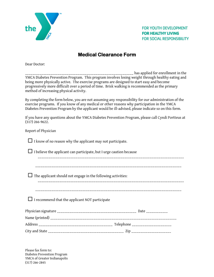 medical clearance form Fill Online, Printable, Fillable, Blank