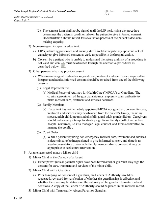 Consent For Medical Treatment Of A Minor Fill Online, Printable