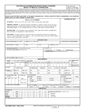 Medical Exam Form