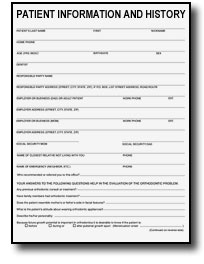Patient Intake Form | Information Medical History HIPAA