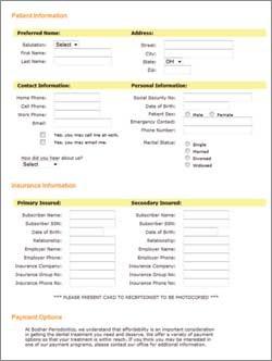 Medical History Form | Bodnar Periodontics