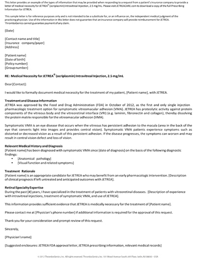 letter of medical necessity luxury letter of necessity cover letter examples 39953