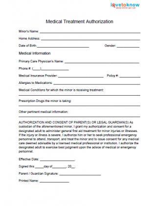 Medical Release Form For Grandparent Fill Online, Printable