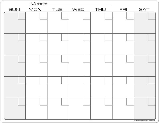 Monthly Calendar – 2017 printable calendar