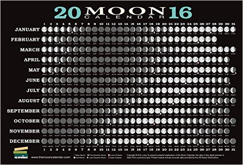 2016 Moon Calendar Card (5 pack): Kim Long: 9781615192601: Amazon