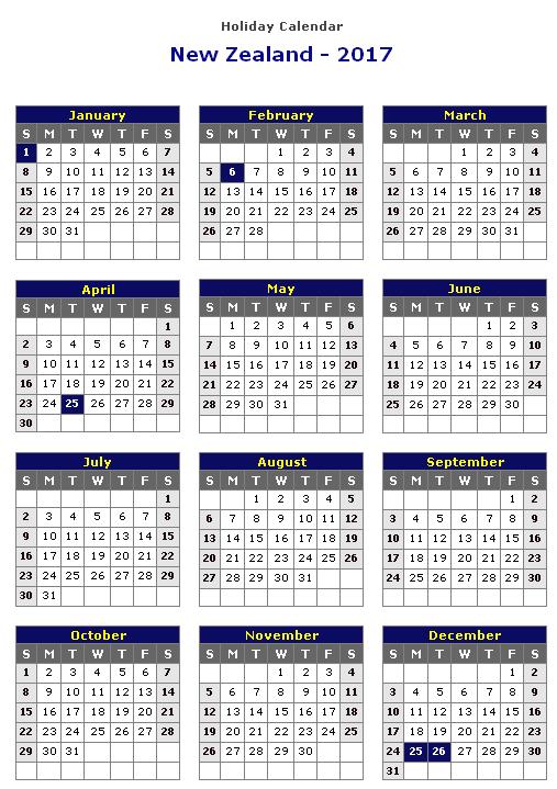 November 2017 Calendar Nz   weekly calendar template