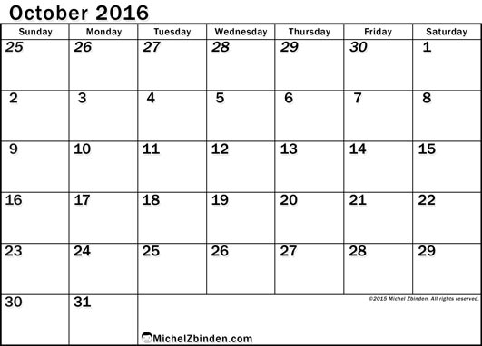October 2017 Calendar Canada | 2017 calendar with holidays