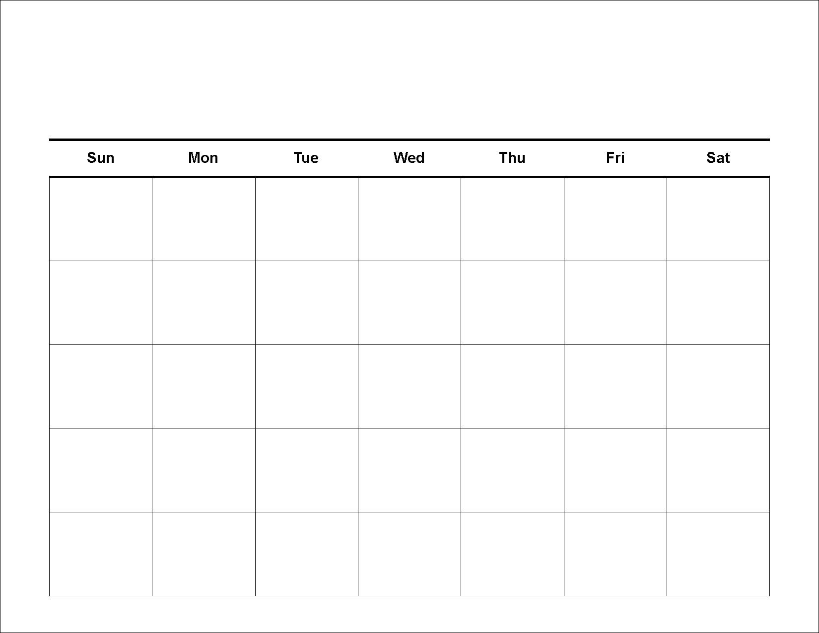2014 Blank Calendar Pages To Print Calendar Template 2016