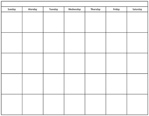 Printable Calendar TemplatePrintables World | Printables World