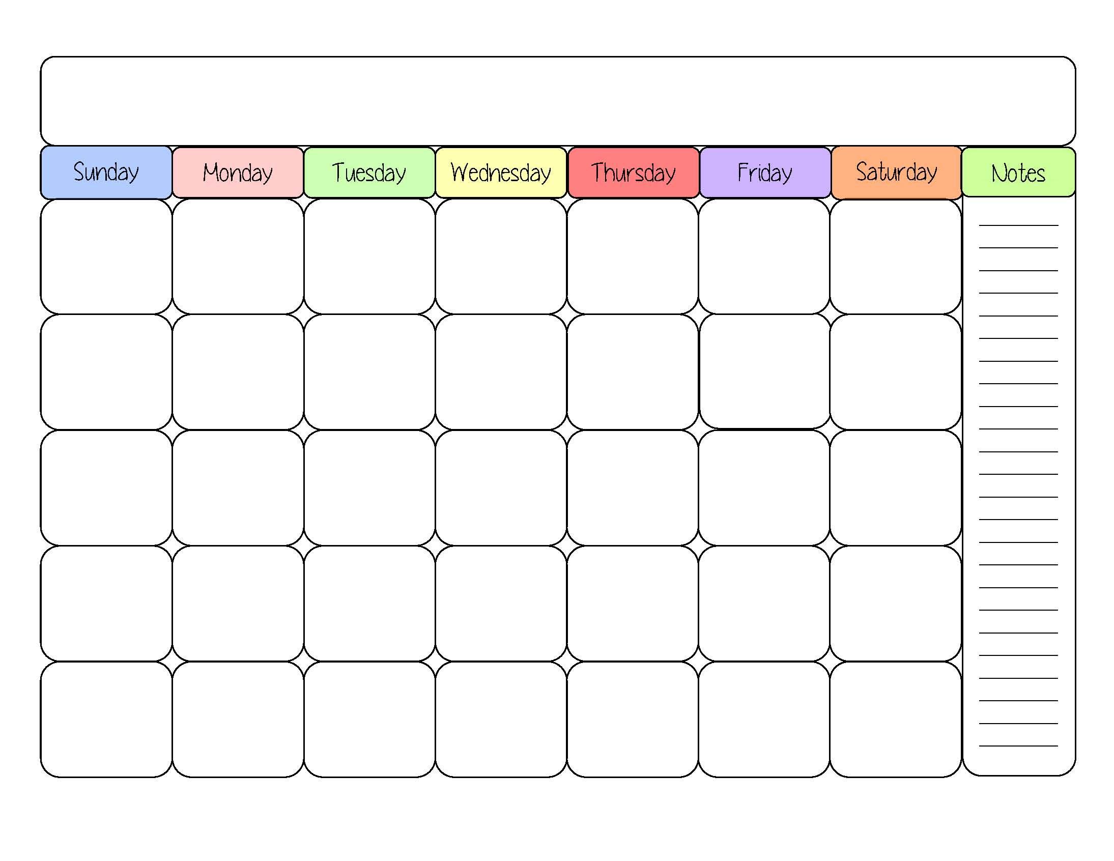 Calendar Template To Print | printable calendar templates