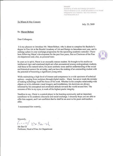 Letters Of Recommendation For College Admission Samples Cover