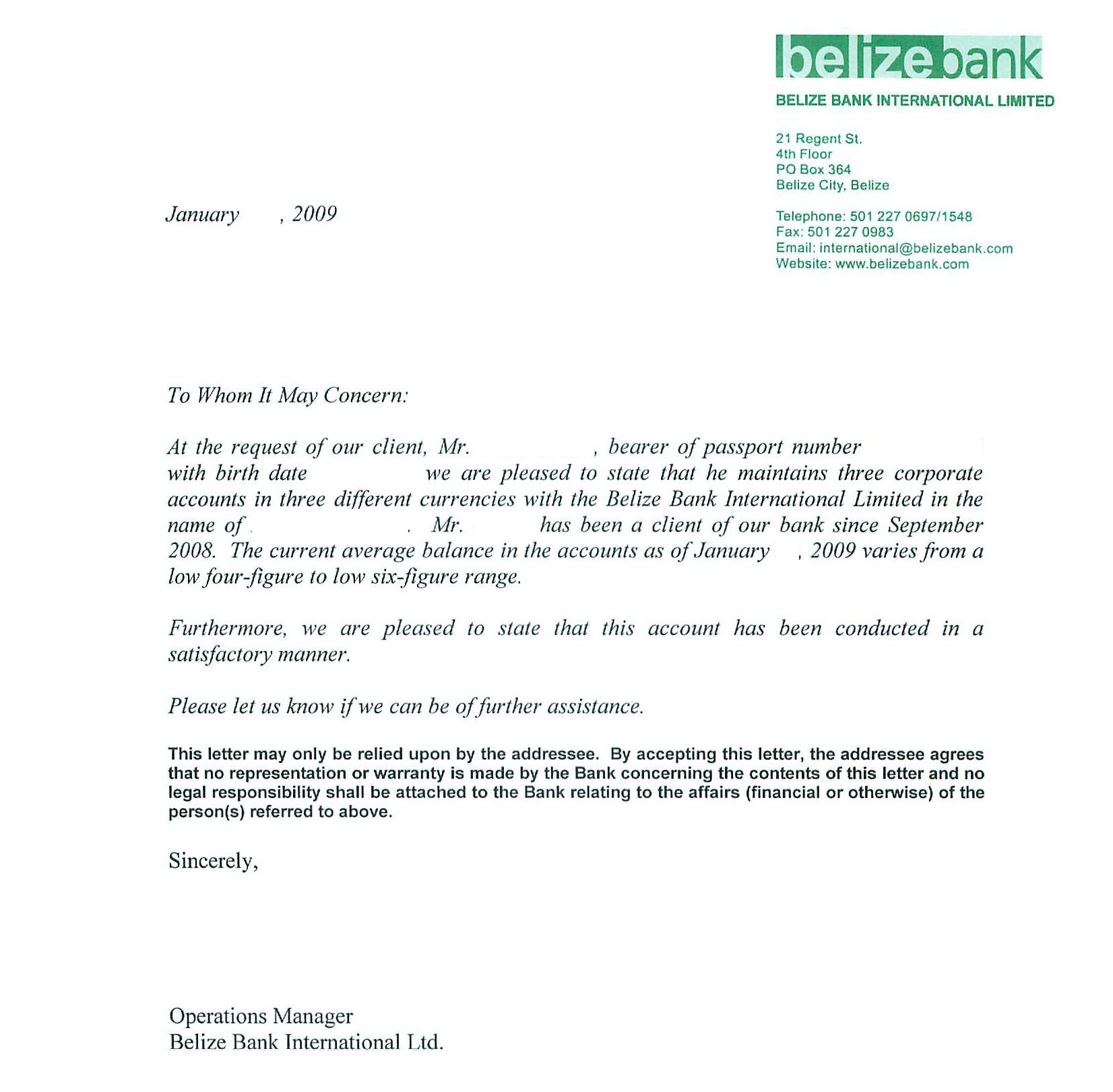 Reference Letter For Bank sample strategic plan template, legal