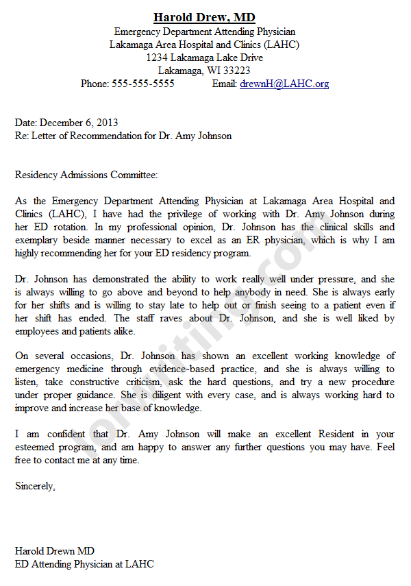 How To Write A Medical School Reference Letter Cover Letter