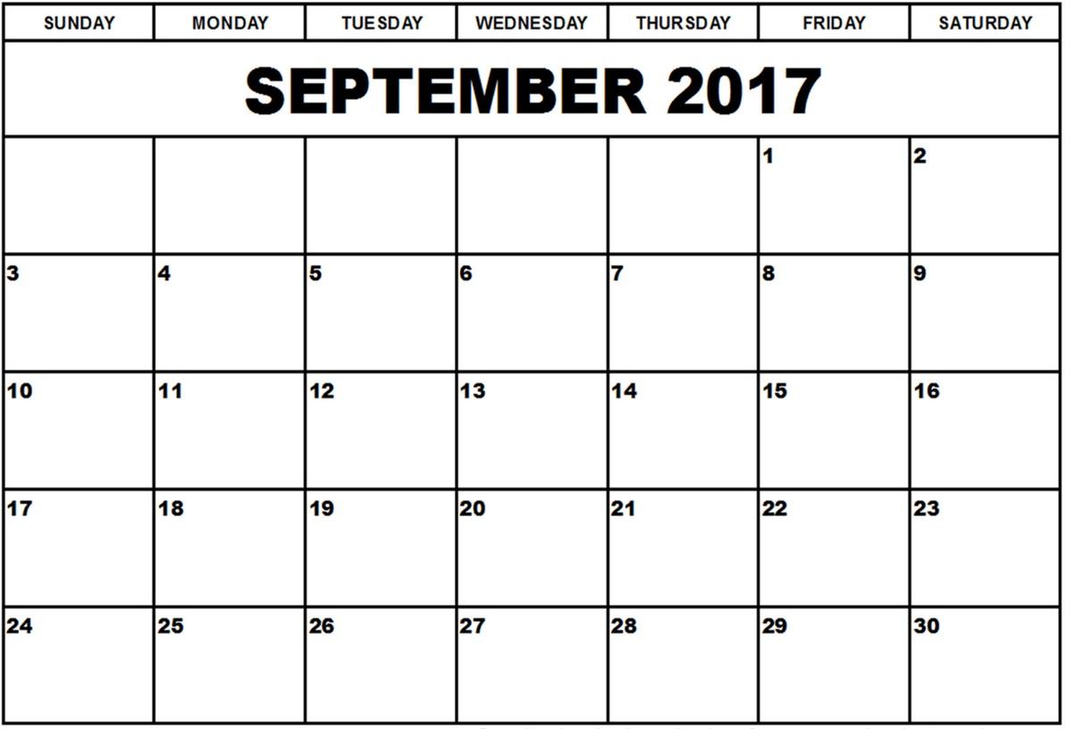 September 2017 Calendar | Calendar Template : August Calendar