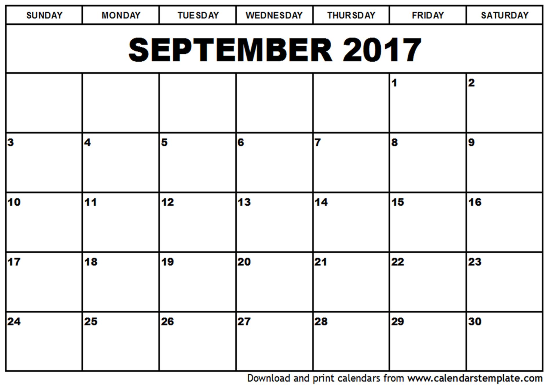 September 2017 Calendar Excel | 2017 calendar with holidays