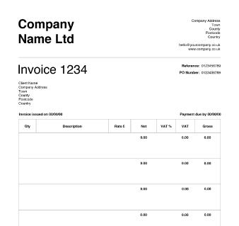Invoice Simple. invoice template : simple invoice template blank