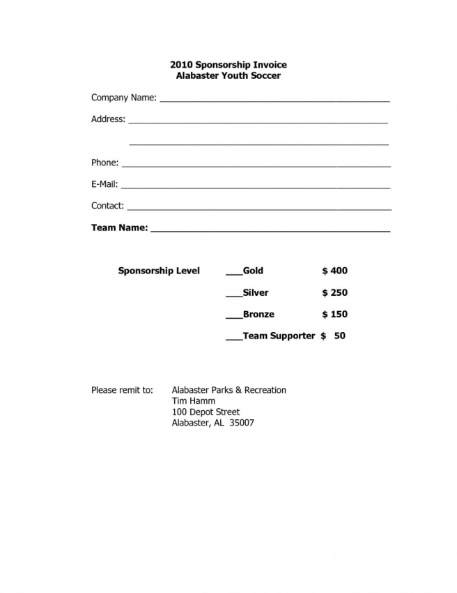 Sponsorship Invoice Template Word | printable invoice template