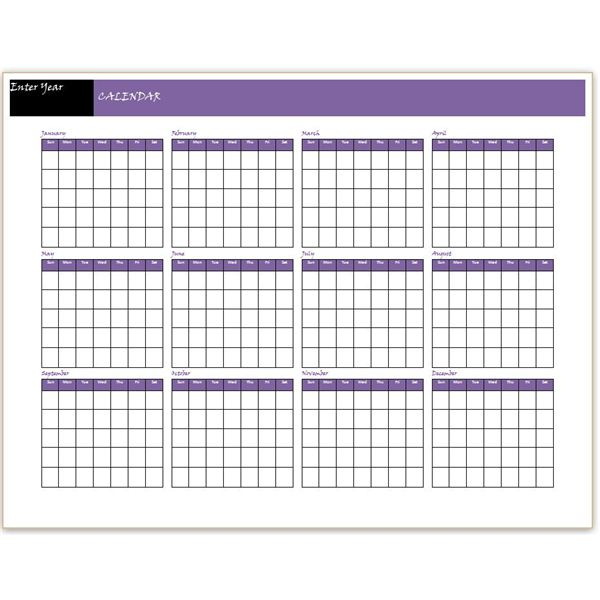Templates Of Yearly Calendars | yearly calendar template
