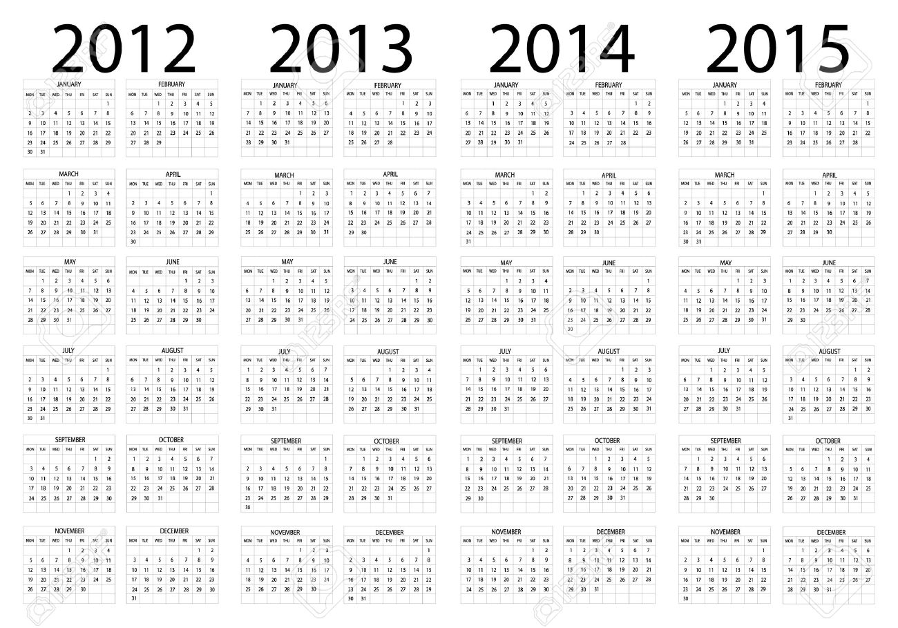 Yearly Calendar 2012 And 2013 | yearly calendar template