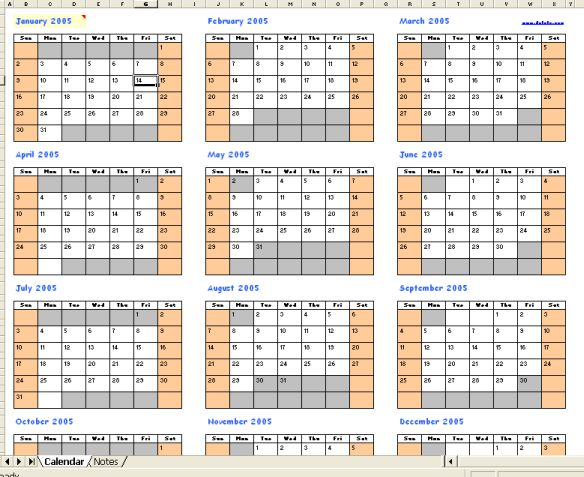 Yearly Calendar By Month | yearly calendar printable