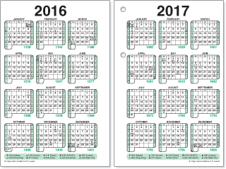 Yearly Calendar Day Counter | yearly calendar printable