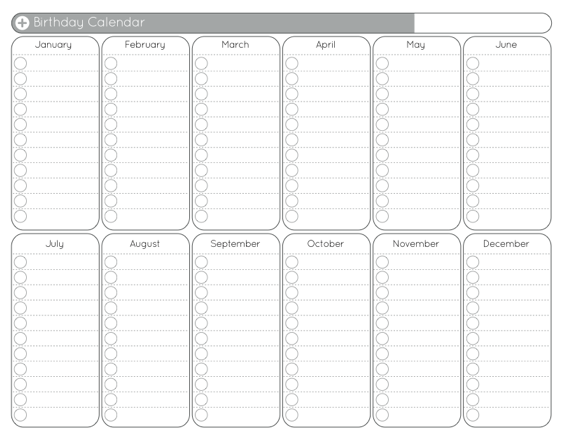 Blank Yearly Calendar Template | printable calendar templates